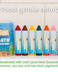 Bath crayons food grade colors